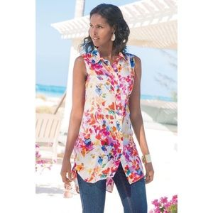 Soft Surroundings Bloom Floral Tunic